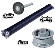 spring-roller-drum-garage-door-parts